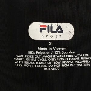 Fila Tops - Fila Sport Racer Back Black Tank S-XL